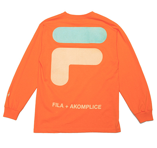 AK + FILA Flocking LS Tee 3