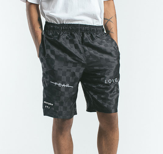 AK X UMBRO Fear Love Checkerboard Shorts 2