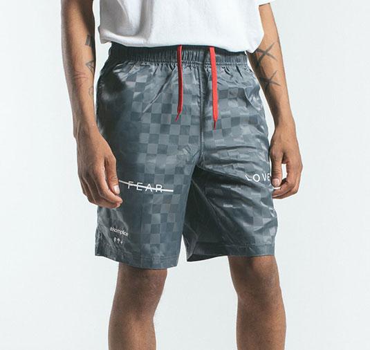 AK X UMBRO Fear Love Checkerboard Shorts 5