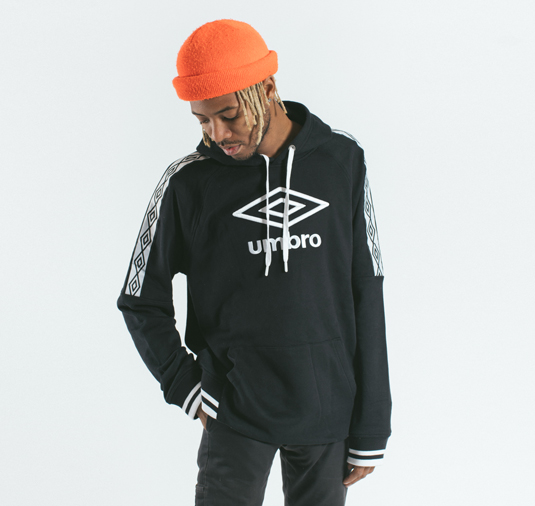 AK X UMBRO Transformation Sueded Fleece Hoodie