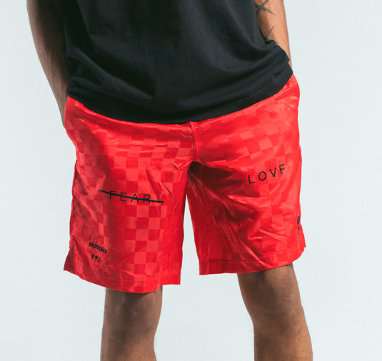AK X UMBRO Fear Love Checkerboard Shorts 4