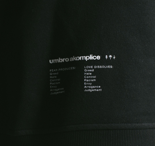 AK X UMBRO Fear Love Sueded Fleece Crewneck 13