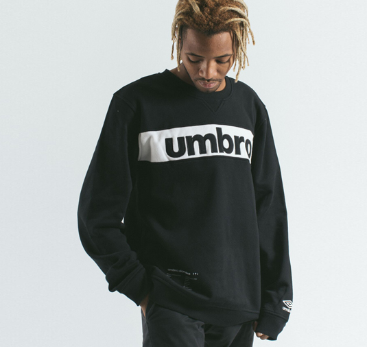 AK X UMBRO Fear Love Sueded Fleece Crewneck 6