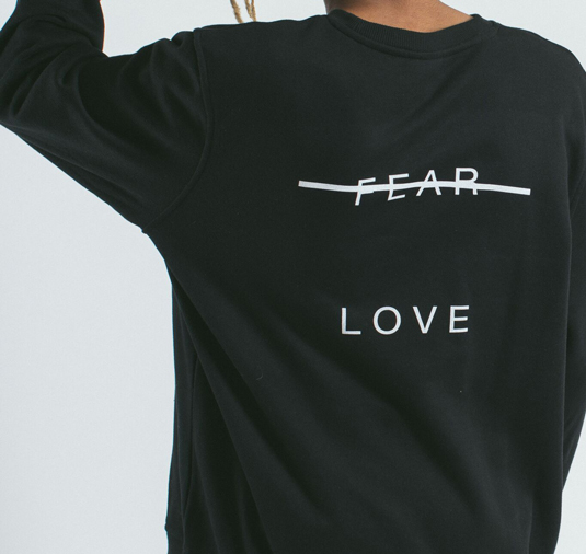 AK X UMBRO Fear Love Sueded Fleece Crewneck 7