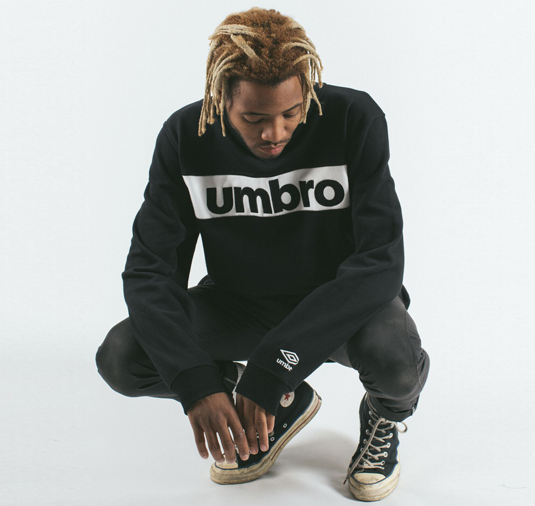 AK X UMBRO Fear Love Sueded Fleece Crewneck 8