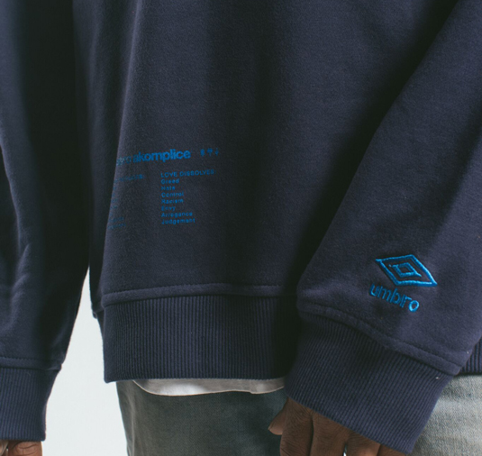 AK X UMBRO Fear Love Sueded Fleece Crewneck 10