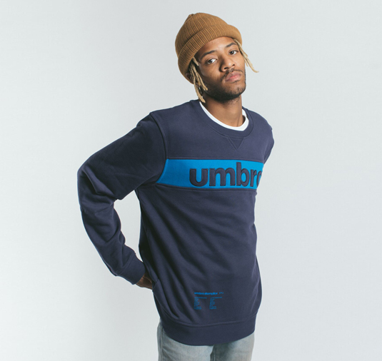 AK X UMBRO Fear Love Sueded Fleece Crewneck 2