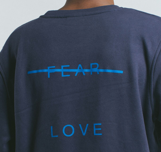 AK X UMBRO Fear Love Sueded Fleece Crewneck 3