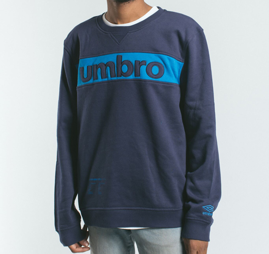 AK X UMBRO Fear Love Sueded Fleece Crewneck 4