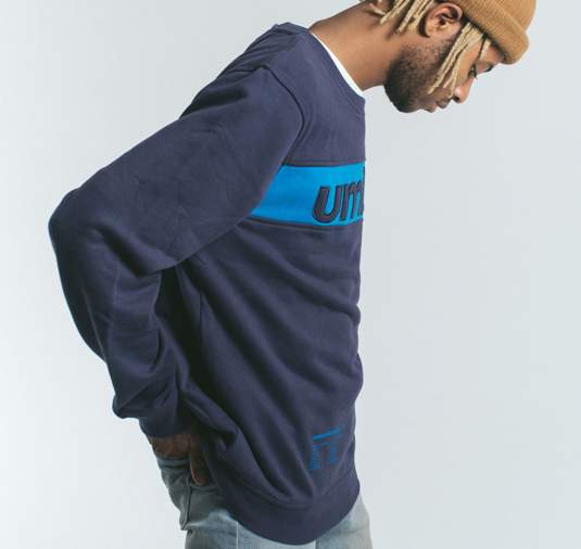 AK X UMBRO Fear Love Sueded Fleece Crewneck 5