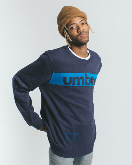 AK X UMBRO Fear Love Sueded Fleece Crewneck