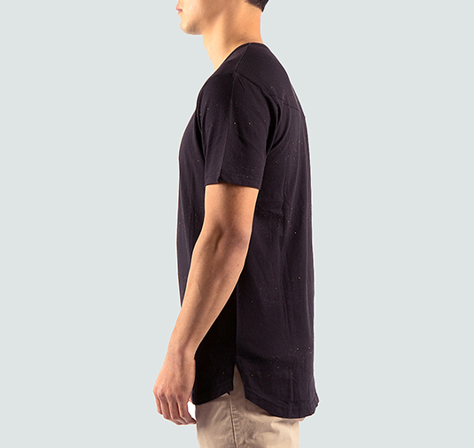 Astor Tee – Black / Multi Stripes 2