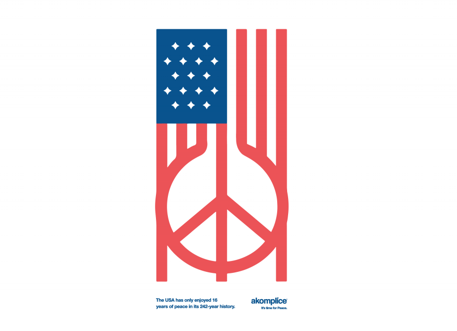 US Peace LS Tee
