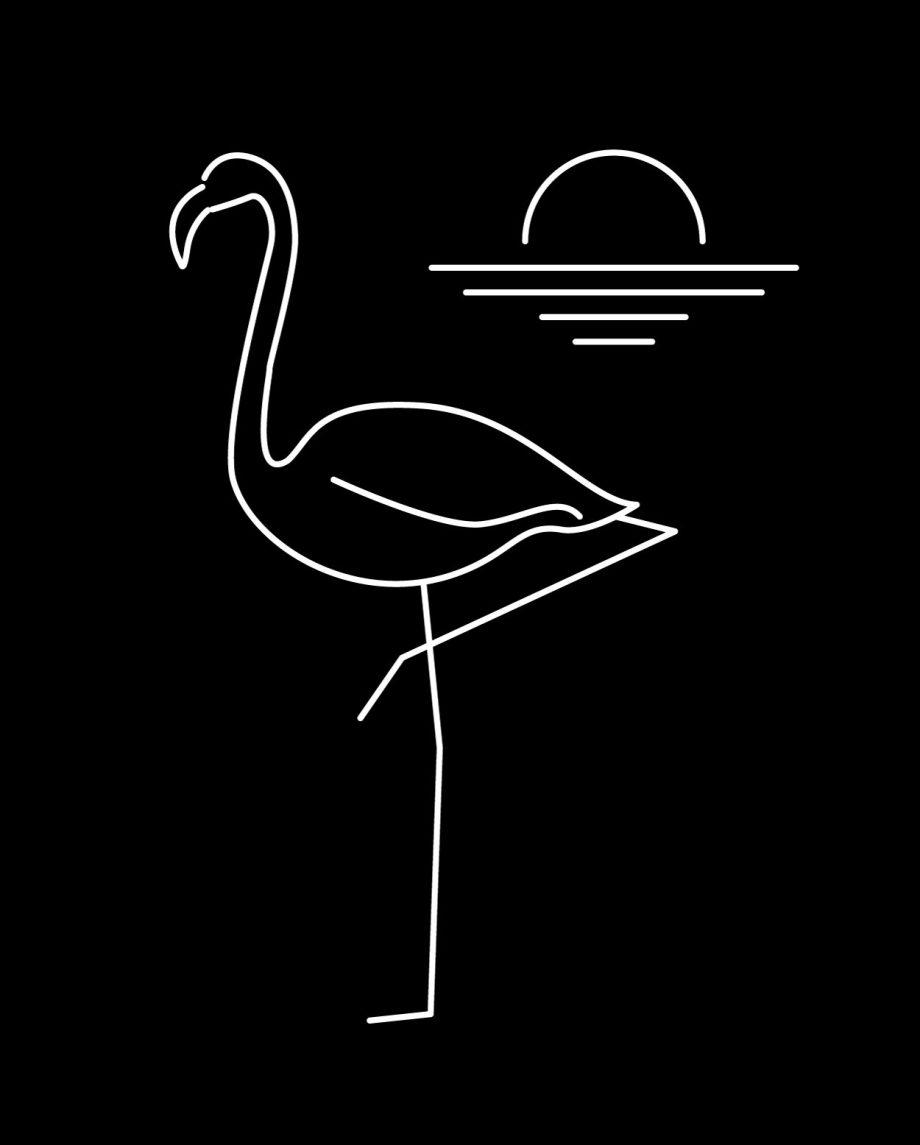 Tranquilo Flamingo Poncho