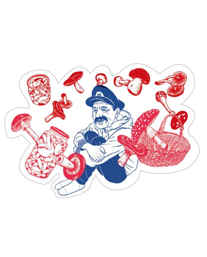 Mario Mushroom Sticker