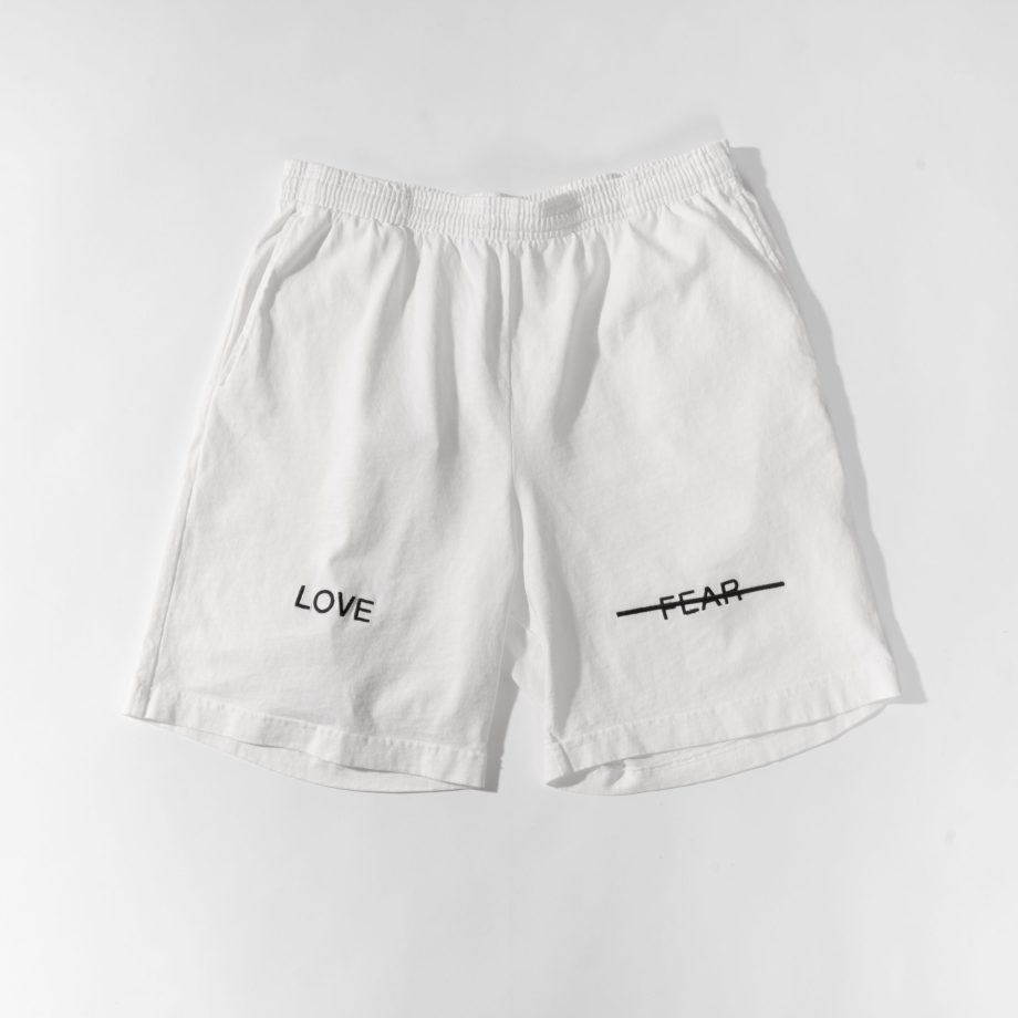 Love Over Fear Emb Shorts.