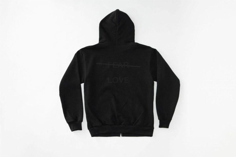 Love Over Fear Emb. Zip – Up Hoodie