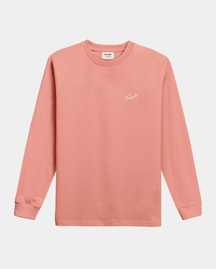 Tranquilo Embroidered LS Mock Neck