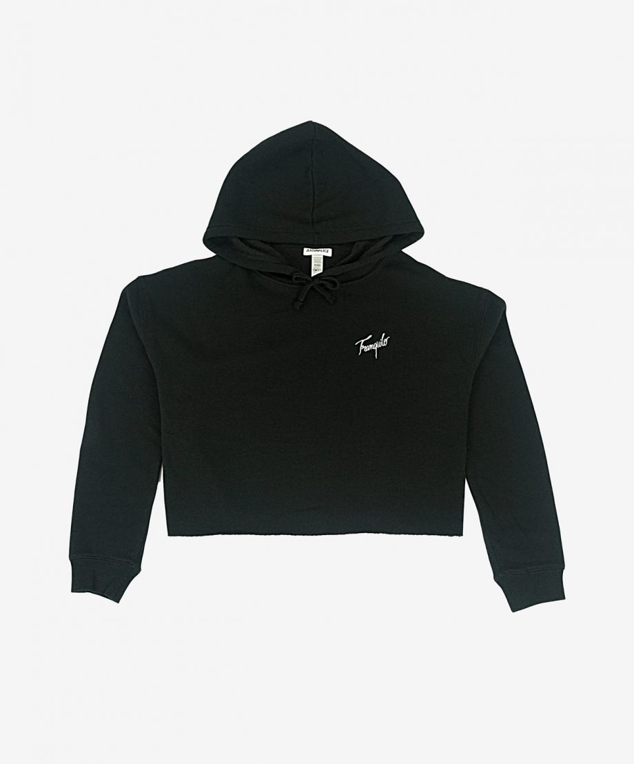 Tranquilo Embroidered Crop Hoodie